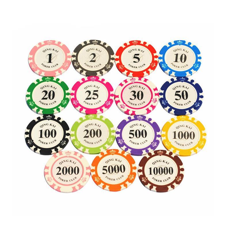 Sportshub 1 шт. Топ-качество нескольких цветов 14 г Casino металл/глины фишки для покера пользовательские EPT фишки для покера NR0104