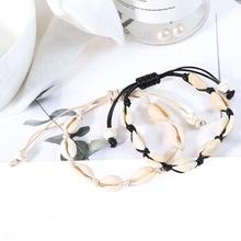 Hot Sale Handmade Natural Seashell Hand Knit Bracelet Shell Bracelets Women Accessories Beads Strand Best Friend Gifts