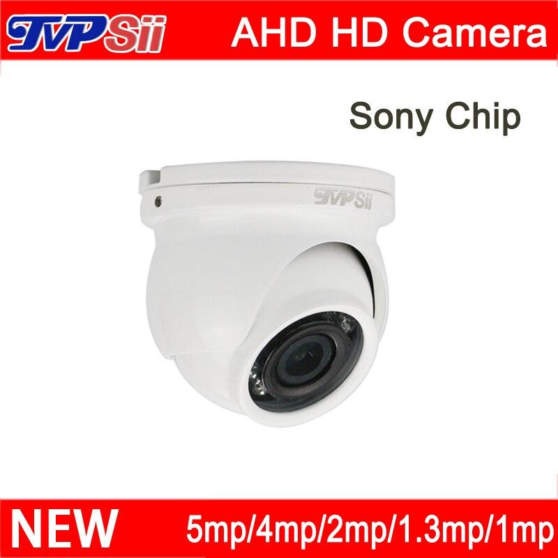 4pcs a Bag 5mp/4mp/3mp/2mp/1.3mp/1mp White metal Infrared Outdoor Mini AHD Hemisphere Dome CCTV Surveillance Camera FreeShipping