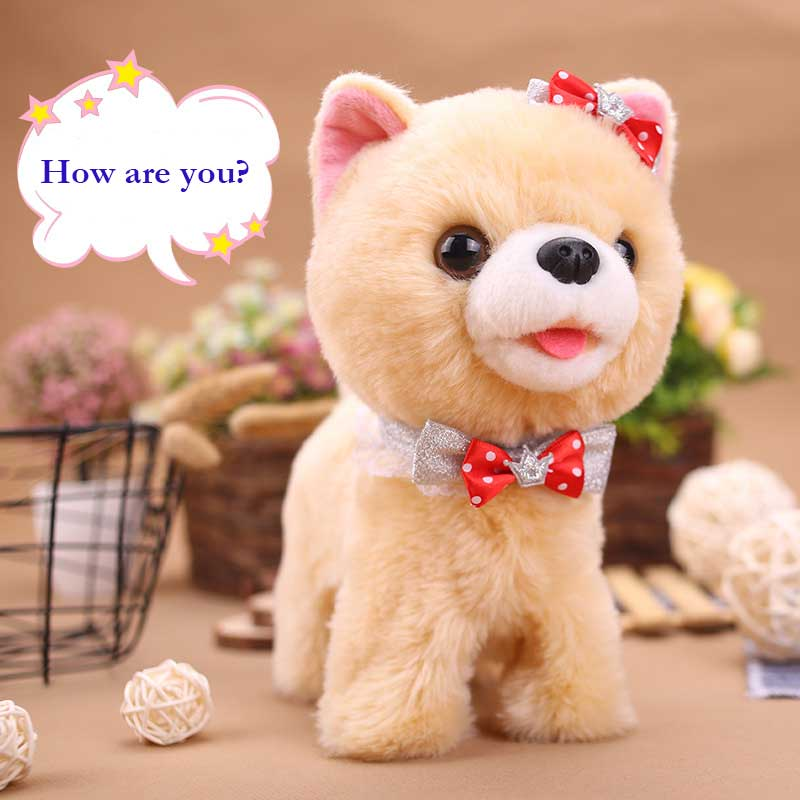 Robot Dog Sound Control Puppy Electronic Interactive Dog Plush Toys Walk Bark Sing Song Music Teddy Toys For Children Birthday