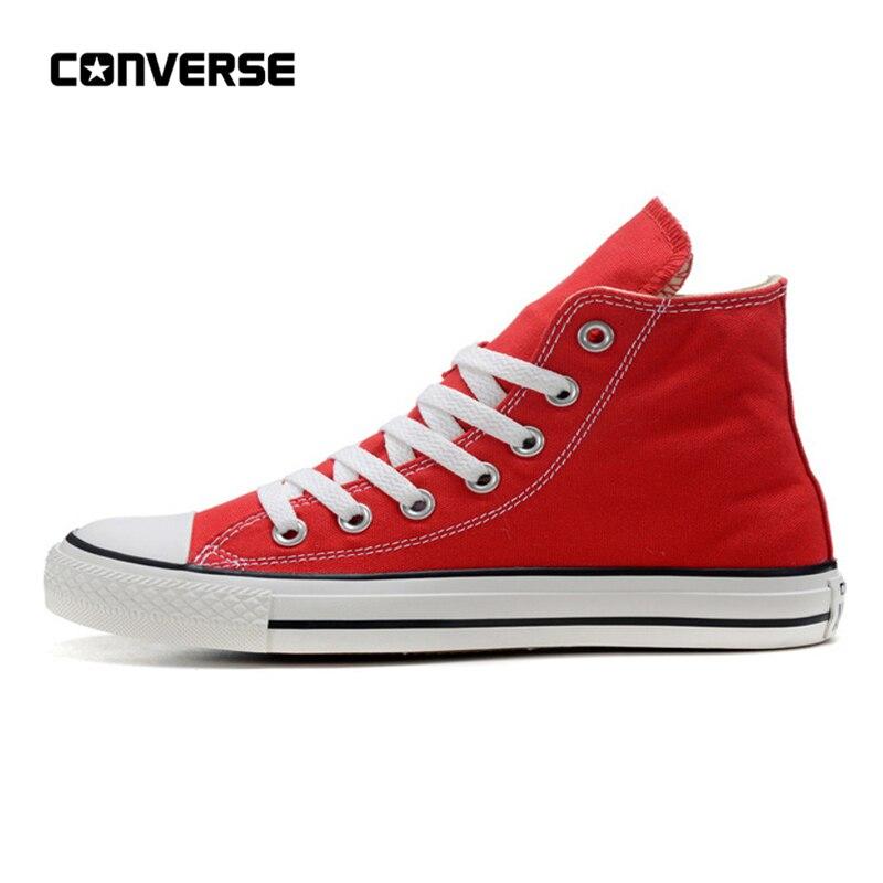 Converse All Star chaussures homme et femme haut classique unisexe rouge Sneakers chaussures de skate 35-44