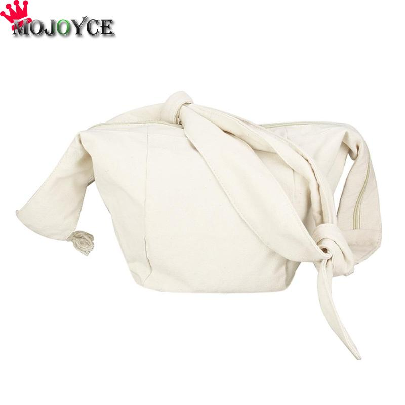 Big Canvas Crossbody Shoulder Bags Girls Knotted Messenger Boho Travel Handbags Totes