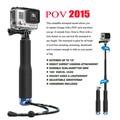 2015 nueva selfie monopod palo con adaptador de montaje para gopro hero 3 3 + 4 hd xiaomi yi sj 4000 5000 6000 7000 accesorios de la cámara