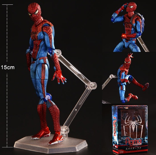 Amazing spiderman PVC kids movable movie cartoon boy Action Figure Model hand toy child anime Furnishing articles collection 2016 new movie the avengers 2 captain america 1 7 joint movable pvc action figure model collectible kids toy for boy kb0501