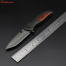 Dcbear High Quality Tough Folding Knife 3CR13 Blade Steel+wood Handle Outdoor Tops Knife Multi Tool Tactical Survival Knives