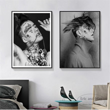 Lil Peep Black And White Portrait Wall Pictures Posters Prints Canvas Art Unframed Paintings Decoration Modern Home Decor Cuadro