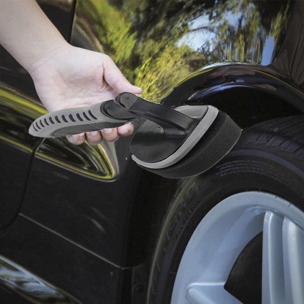 Автомобильная Губка Колеса скраб-щетка 17*2,8*8 см портативная автомобильная ручка поставки щетка для мытья автомобиля Съемная стирка