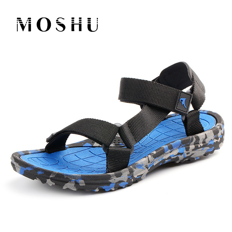 Summer Men Sandals flat Upstream Shoes Male Camouflage Casual Beach Shoes Walking Flip Flops Gladiator Sandals