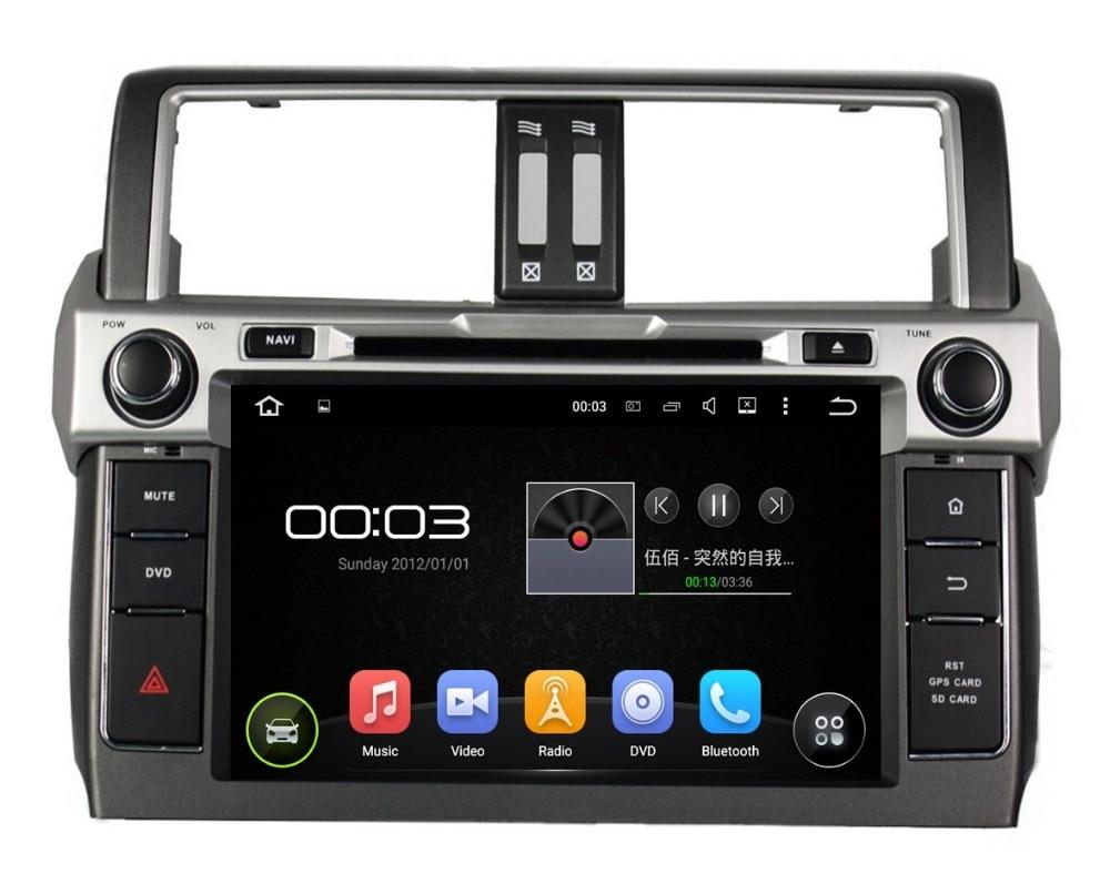 1024 600 Quad Core 2 din 9 Android 5 1 Car dvd player for Toyota PRADO