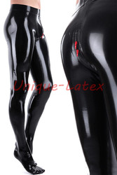 Latex Broek Mannen Latex Leggings 3d Kruis zip aangepaste