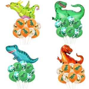 Image 2 - WEIGAO 恐竜誕生日パーティー使い捨て食器セット子供動物誕生日パーティーの装飾紙バナー/カップ/プレート用品