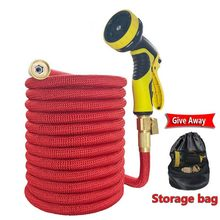 Garden Watering Hose Telescopic Magic Hose Elastic Rubber High Pressure Car Wash tuinslang Lawn Irrigation Sprayer For the garde(China)