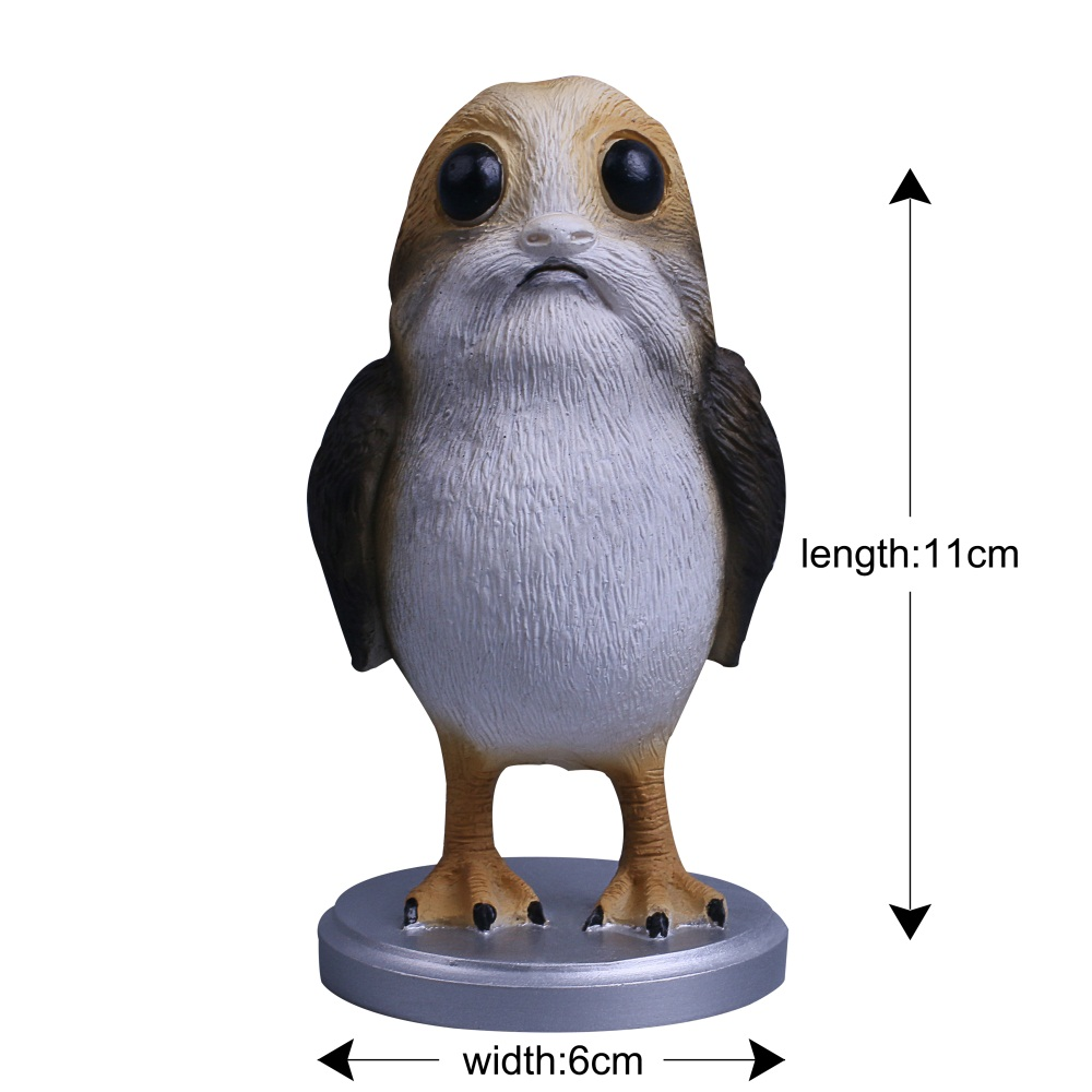 Star Wars The Last Jedi Porg Action Figure Cosplay Porg Toy Doll Christmas Gift Resin (2)
