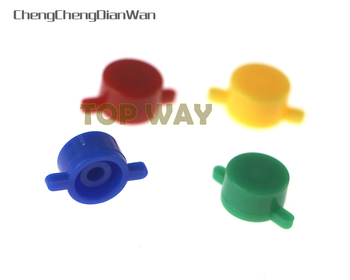 High Quality Buttons For SNES Super NES Plastic Buttons ABXY For Nintendo Super FC Controller ChengChengDianWan