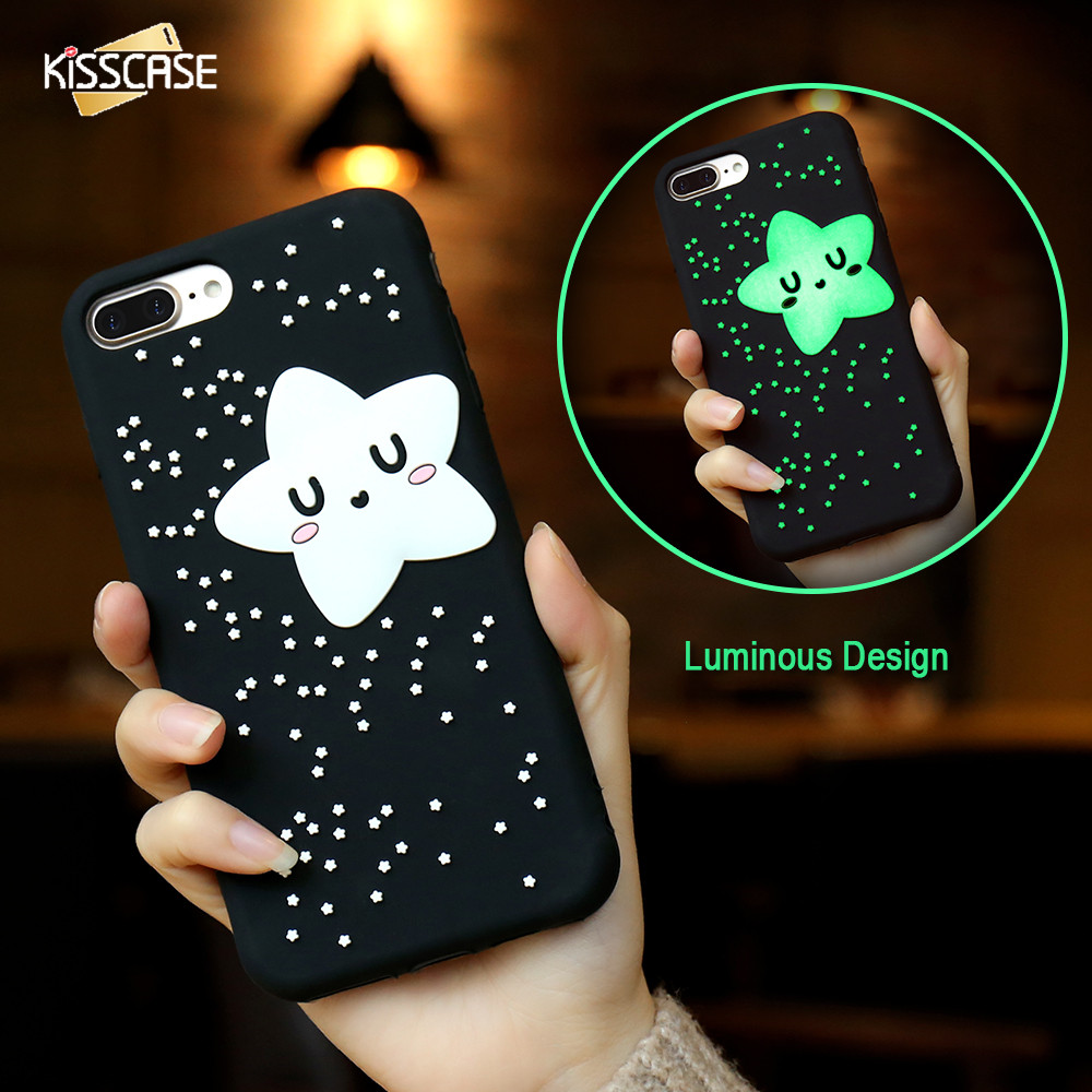 KISSCASE Phone Cases For IPhone 6 6s 7 Plus Case Cute 3D Cartoon Biscuit Case Soft Silicon Cover