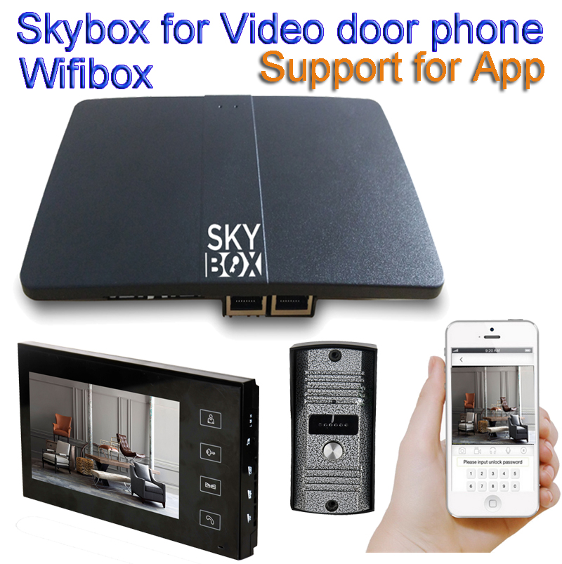 Wireless WiFi IP BOX For Video Doorphone Doorbell Building Intercom System Control 3G 4G Android iPhone ipad APP on Smart Phone 2016 new wifi doorbell video door phone support 3g 4g ios android for ipad smart phone tablet control wireless door intercom