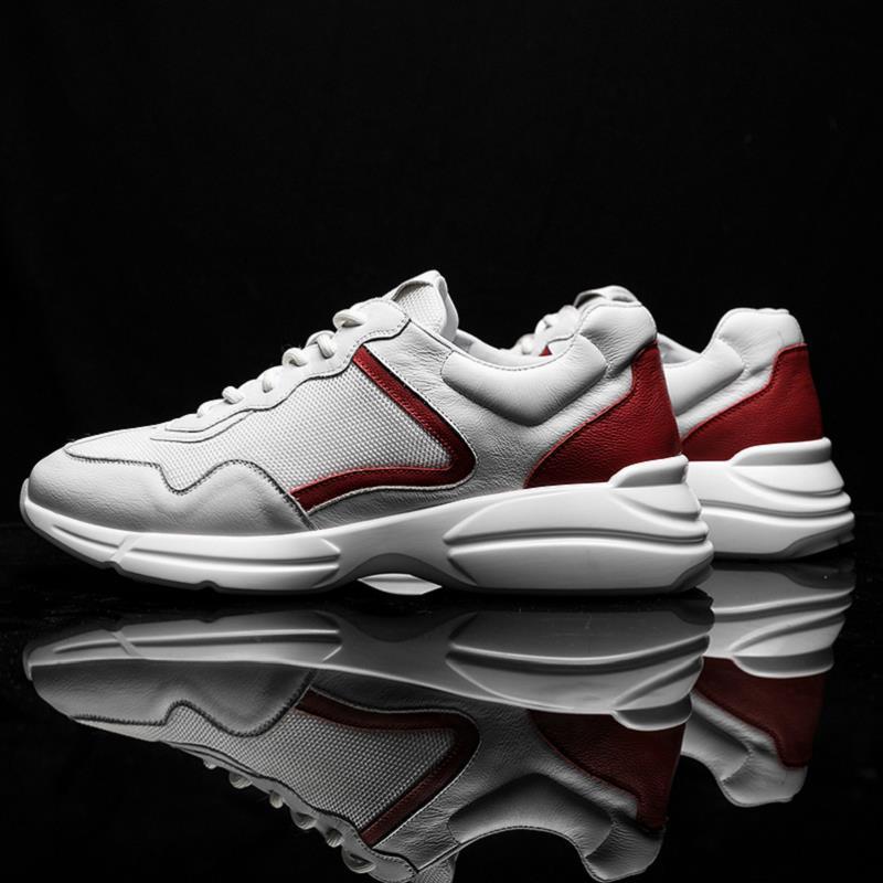 68f24a7970616 Transpirables Pisos Listado Branco Hombres Nuevo Moda Para Negro Tenis  blanco Zapatillas Zapatos El rojo Heinrich Casual vICq1T