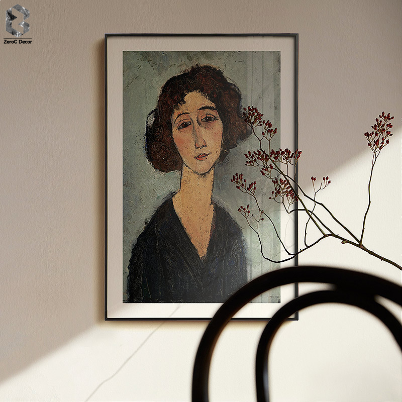 Amedeo Modigliani Of Italy Artist Canvas Art Poster And Print Girl Portrait Wall Painting Picture For Living Room Home Decor Painting Calligraphy Aliexpress