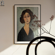Amedeo Modigliani of Italy Artist Canvas Art Poster and Print Girl Portrait Wall Painting Picture for Living Room Home Decor classic amedeo modigliani picasso artwork collection sketch canvas print painting poster wall pictures living room home decor
