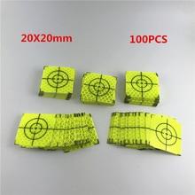 חדש 100pcs סופר כוח ירוק רפלקטור גיליון 20x20mm יעד קלטת רעיוני מדידות