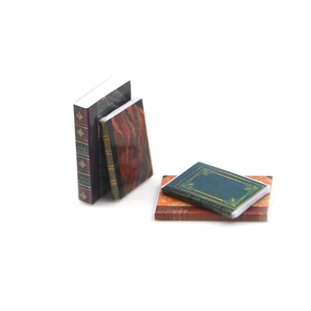 4PCS Dollhouse Miniature 1:12 Toy 4 Pieces Of Books Length 2.4cm CH