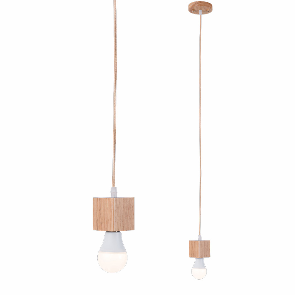screw in pendant lighting. 2018 Modern Pendant Bulb Light Screw Socket Wood Square Led Lamp Base E27 Holder -in Lights From \u0026 Lighting On Aliexpress.com In