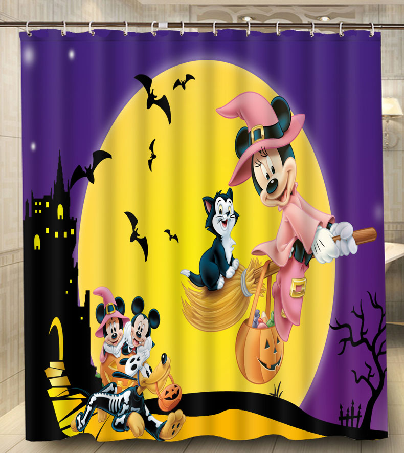 amazing cartoon mickey mouse fly on yellow moon modern classical custom shower  curtain waterproof xcm bathroom curtain with mickey mouse shower curtain. Mickey Mouse Shower Curtain  Beach Themed Fabric Shower Curtains