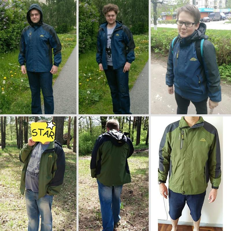 LOMAIYI Vodootporna Muška jakna Proljeće Jesen Zima Fleece Podstava - Muška odjeća - Foto 2