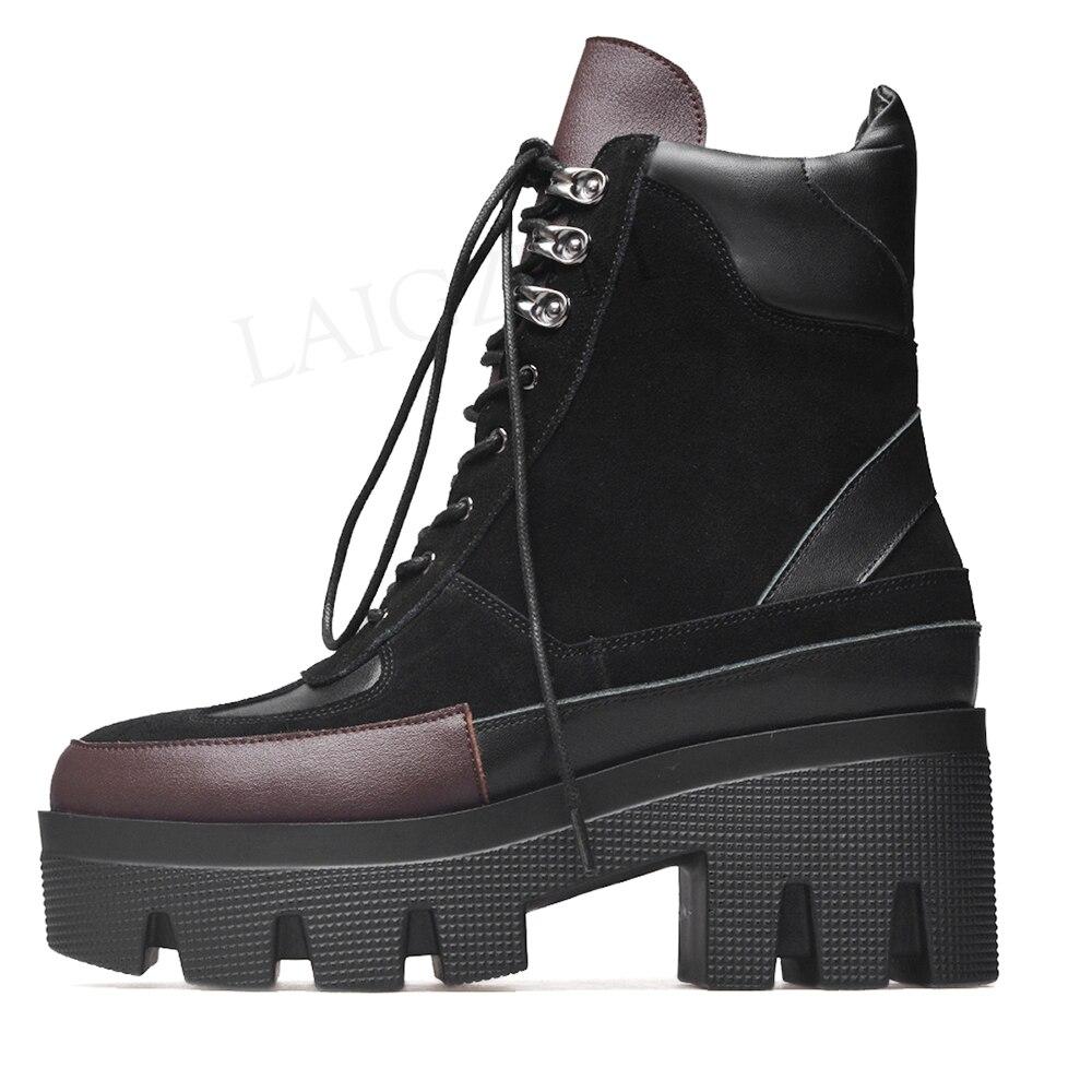 Prova Perfetto duże rozmiary 43 zasznurowane buty do kolan
