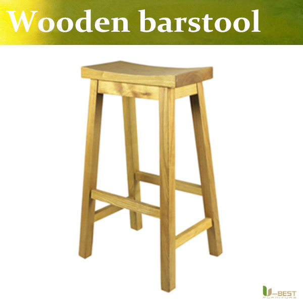 free shipping ubest wooden bar stool swivel stoolsoak wood stool with