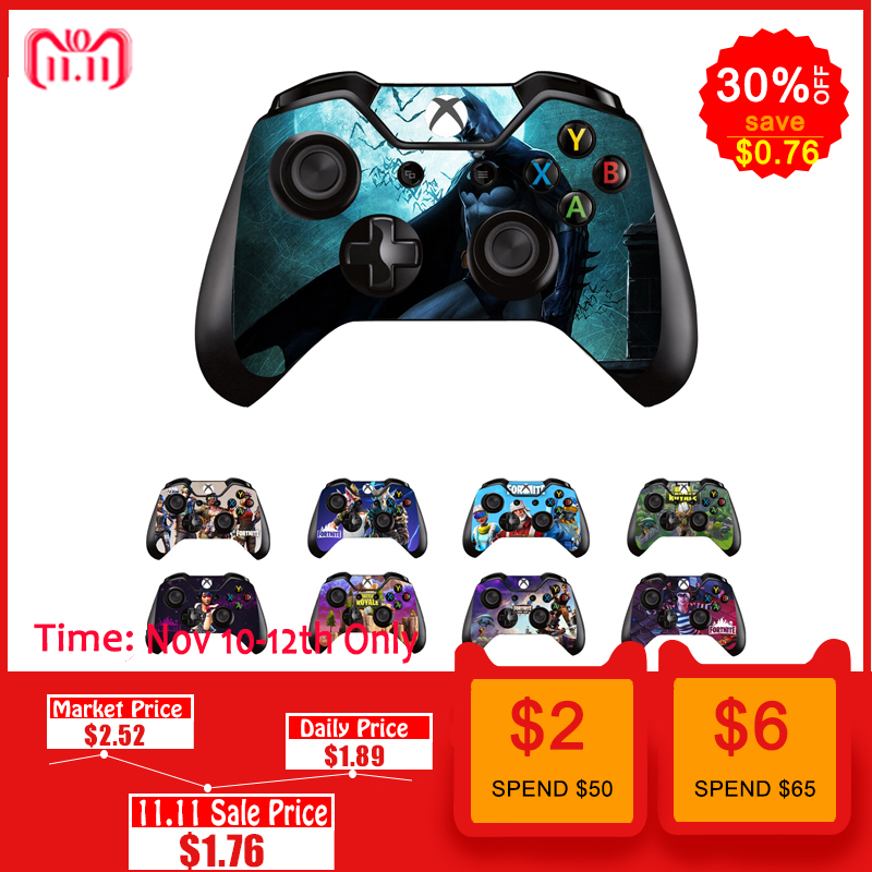 все цены на Game Sticker Vinyl For Microsoft Xbox One Controller Decal Skins For Xbox One Gamepad Cover For Xbox One Joypad