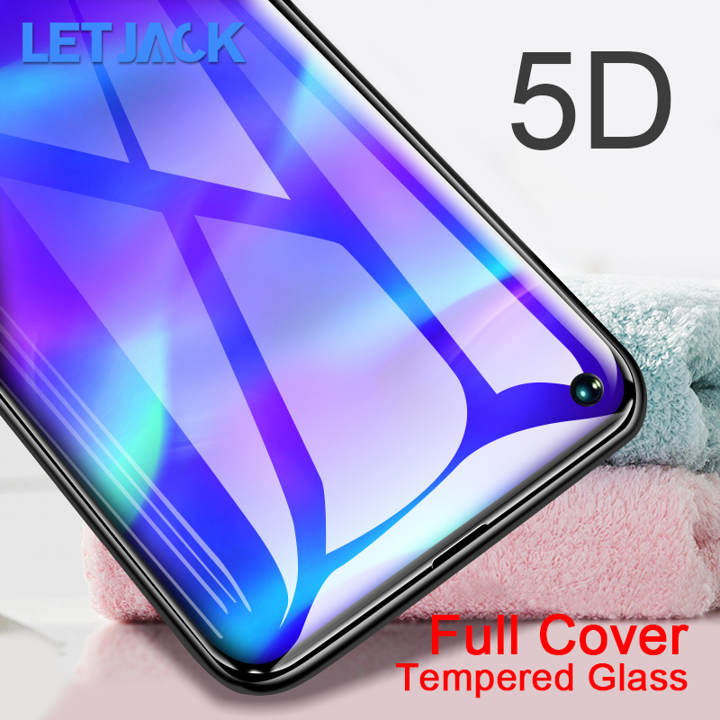 5D Full Curved Tempered Glass For Huawei P8 Lite 2017 Nova 4 3 3i P20 Lite Pro Y7 Prime Y6 Y9 2018 P Smart 2019 Screen Protector