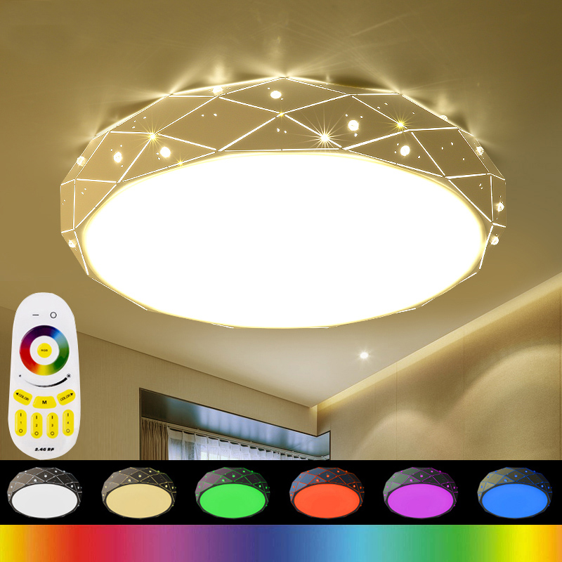 Modern Ceiling Lights RGB Lamp Plafonnier Led Moderne 2.4G RF Remote Lamparas De Techo Luminaria For Bedroom Living Room modern led ceiling lights for home lighting plafon led ceiling lamp fixture for living room bedroom dining lamparas de techo