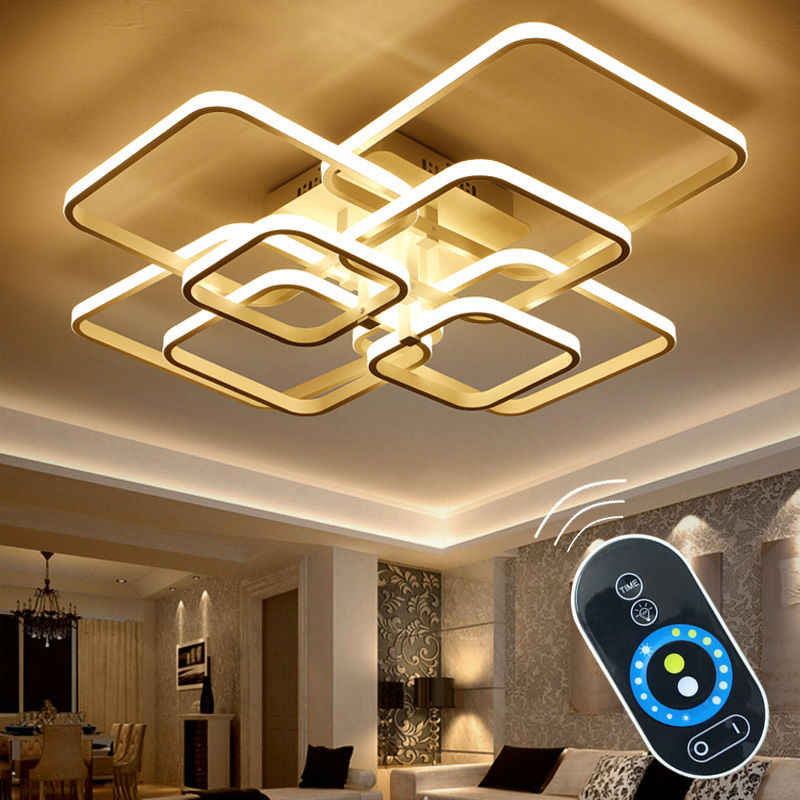 Сенсорное Дистанционное затемнение, современные светодиодные плафоны, потолочный светильник, алюминиевый светильник для столовой, гостиной, спальни, светильники, блеск, Lamparas De Techo