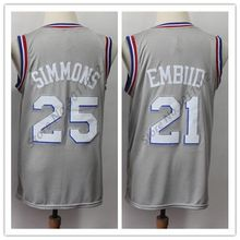 5a20c5718c36 2019 New  25 Ben Simmons  21 Joel Embiid CITY Edition Basketball Jersey  Stitched S