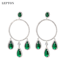 Fashion AAA cubic zirconia earrings for womens round dangle earring waterdrop green stones drop earrings womens accessaries extremely attractive dangling earring blue green and clear oval cut stones of cubic zirconia big round dangle pendant earrings