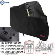 2f9750d43b7 XL XXL XXXL 190 T negro moto de la motocicleta cubierta impermeable al aire  libre Uv a lluvia a prueba de polvo Protector con ti.