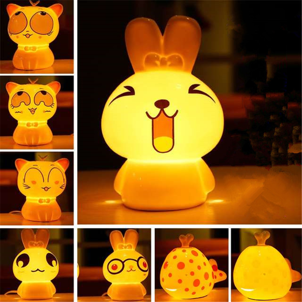 Aroma night lamps - Aromatherapy Diffuser Air Humidifier Aroma Diffuser Essential Oil Diffuser Dimmable Cartoon Nightlight Led Soft Animal Desk