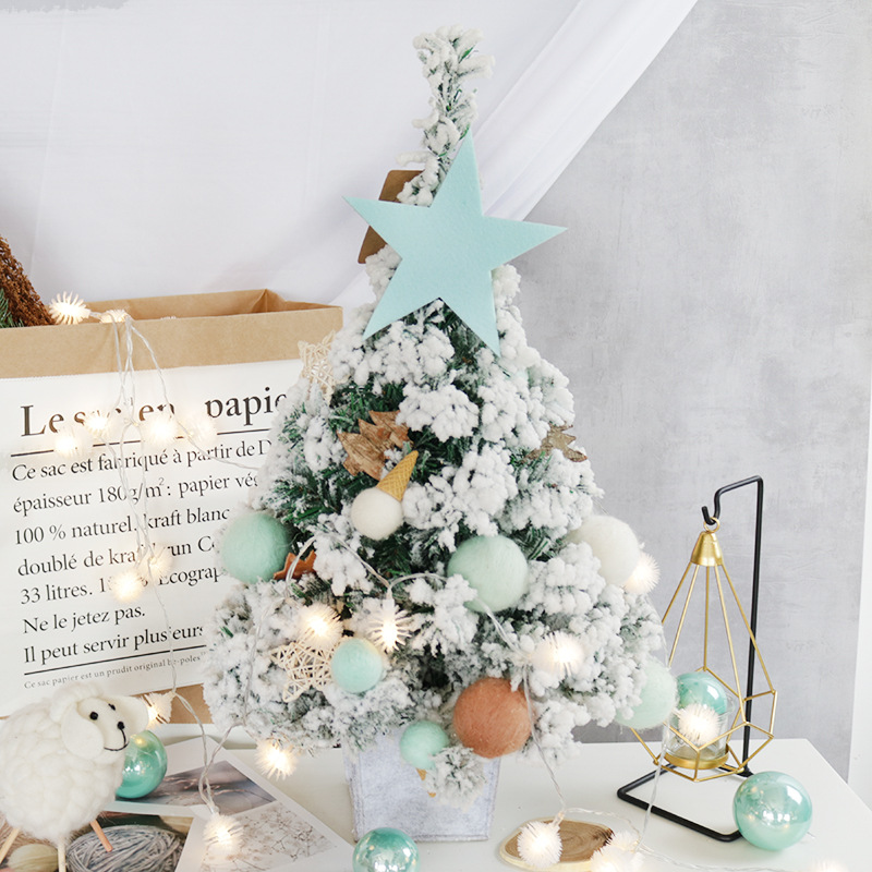 Hot Selling Newest 2019 60 Cm Flocking Christmas Tree Lin Desktop Furnishing Articles In The Window