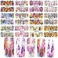 New 12 Folhas Mix Coruja Dream Catcher Adesivo Decalque De Transferência Da Água Da Arte do Prego Para A Arte Do Prego Etiqueta do Tatuagem Deslizante A1309-1320