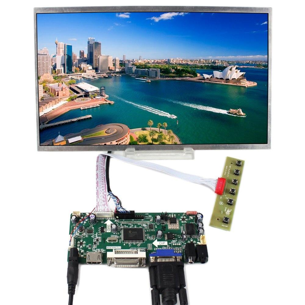 HDMI VGA DVI Audio LCD Controller Board+12.1 HSD121PHW1 1366x768 LCD Screen переходник aopen hdmi dvi d позолоченные контакты aca311