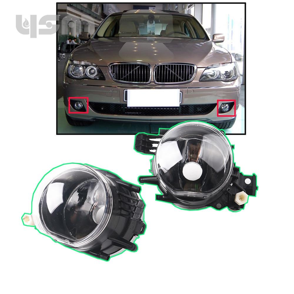 NoEnName_Null 1 Pair For BMW E66 745i 750Li 2002-2008 Fog Light without Light Bulb 631769433416 63 17 694 34 15 631769433415