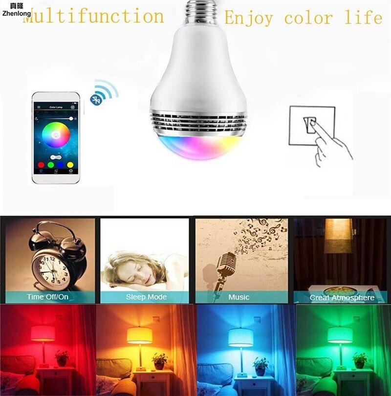 E27 Smart RGB RGBW sans fil Bluetooth haut-parleur ampoule musique jouant Dimmable LED ampoule lampe APP télécommande 10 W AC110-240V - 5