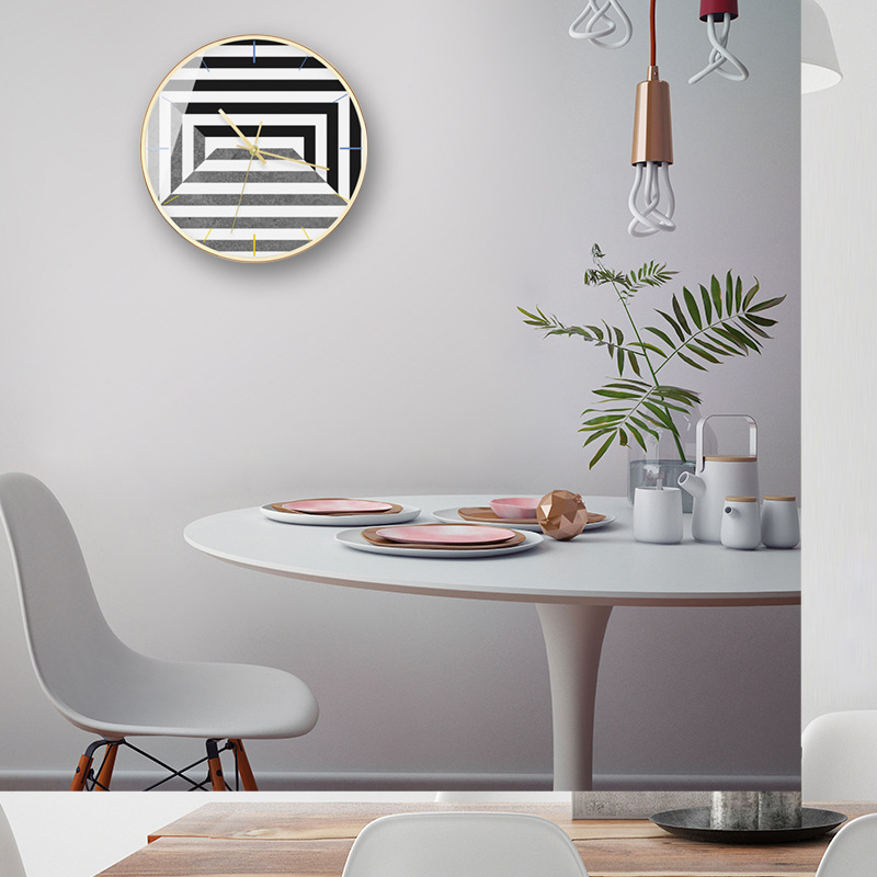 Wanduhr 50 Grad Grau Geometrische Mode Nordic Minimalistischen Moderne Wohnzimmer Büro Dekorative Wanduhren-in Wanduhren aus Heim und Garten bei  Gruppe 3