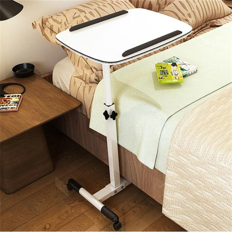 60x40CM Height-Adjustable Bedside Table Fashion Movable Laptop Table Multipurpose Modern Notebook Desk