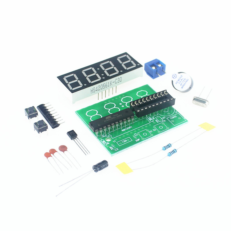 Electronic Components & Supplies Constructive At89c2051 Clock Diy Electronic Kits Module 5v 0.56inch 4-bits Digital Display Clock Suite Trousse Timer Componentes Eletronicos