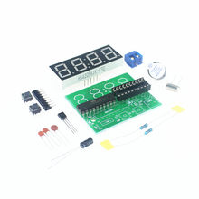 AT89C2051 Clock DIY Electronic Kits Module 5V 0.56inch 4-Bits Digital Display Clock Suite Trousse Timer Componentes Eletronicos(China)