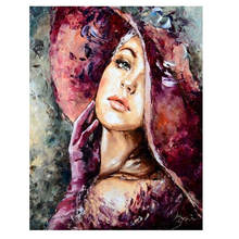 Decorative Canvas Painting By Numbers,Figure,Diy Oil Painting By Numbers Sexy Woman(China)