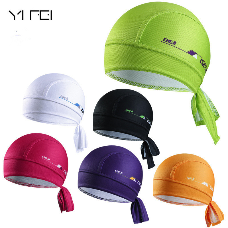 YIFEI Cycling Bike Quick-dry Ciclismo Beanie Outdoor Sports Cap Headscarf Pirate Scarf Hood MTB Racing Bicycle Hat outdoor sports cycling mask bike riding variety turban magic bicycle designal scarf women scarves