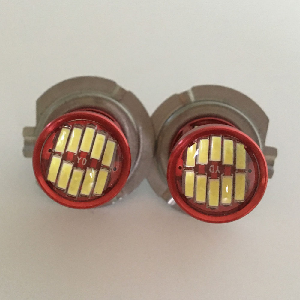 Satu Set H7 LED H11 9005 9006 Mobil Fog Light Bulb 6500 k Putih Lampu - Lampu mobil - Foto 3